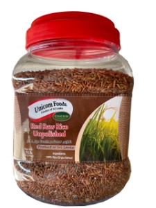 Picture of Unicom Red Raw Rice Unpolished - 5Lbs Bottle