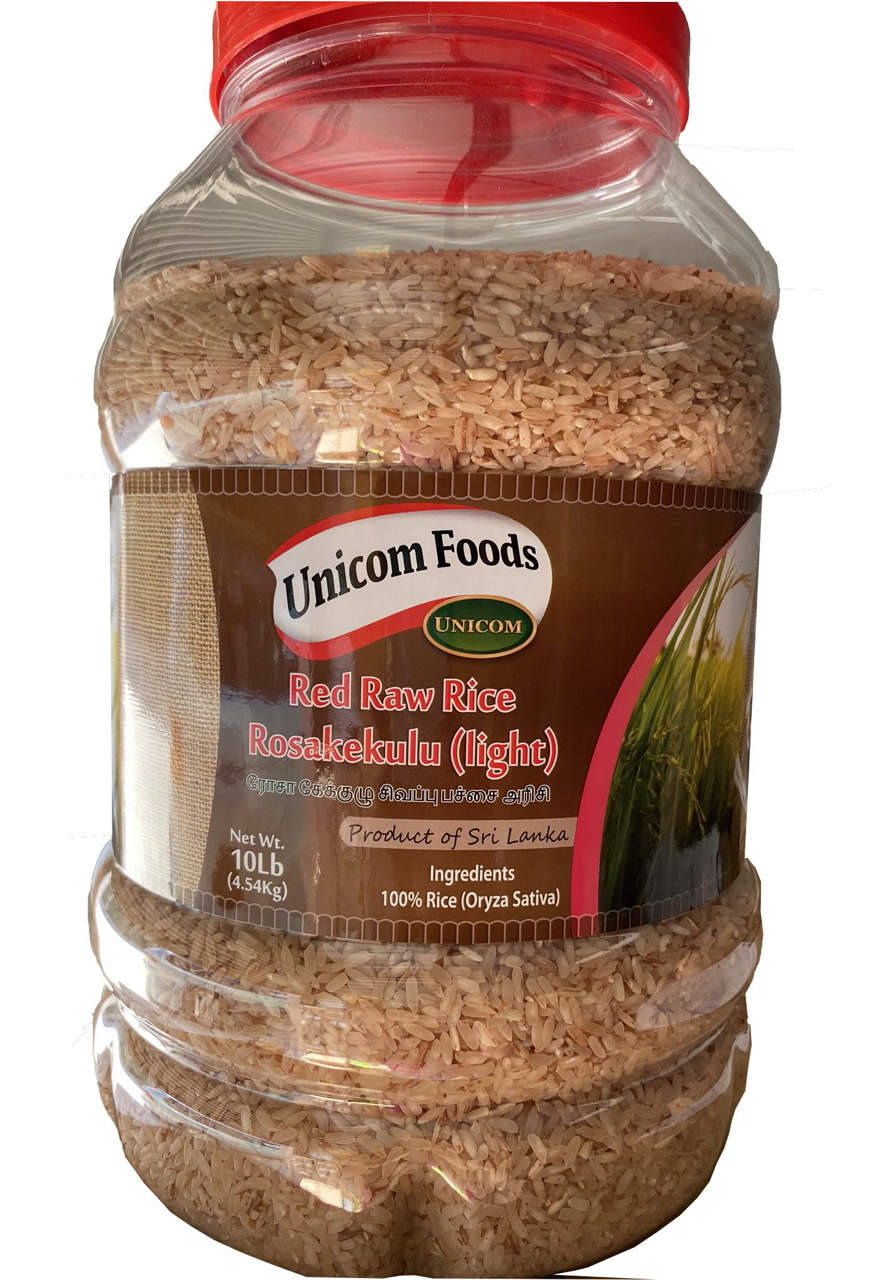 Picture of Unicom Red Raw Rice Rosakekulu (Light) 10Lbs Bottle