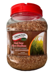 Picture of Unicom Red Raw Rice (Medium Polished)  5Lbs Bottle